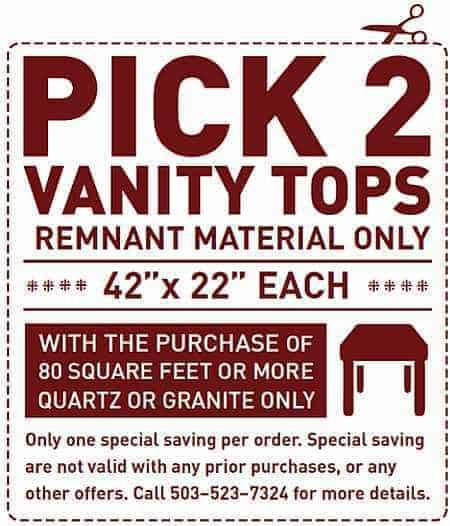 Pick 2 Vanity Tops Special