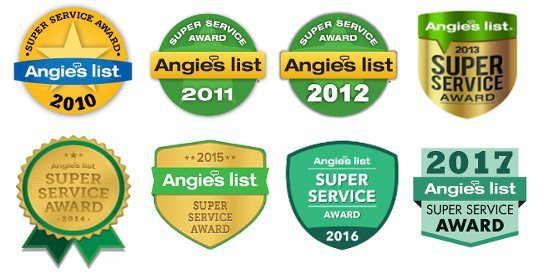 Angie's List Super Service Award ~ 8 Straight Years in a Row