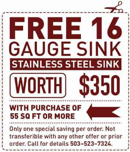 Free 16-Gauge Sink Special