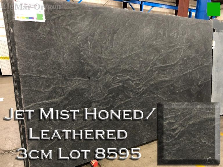 Jet Mist Honed Granite - Leathered lot 8595