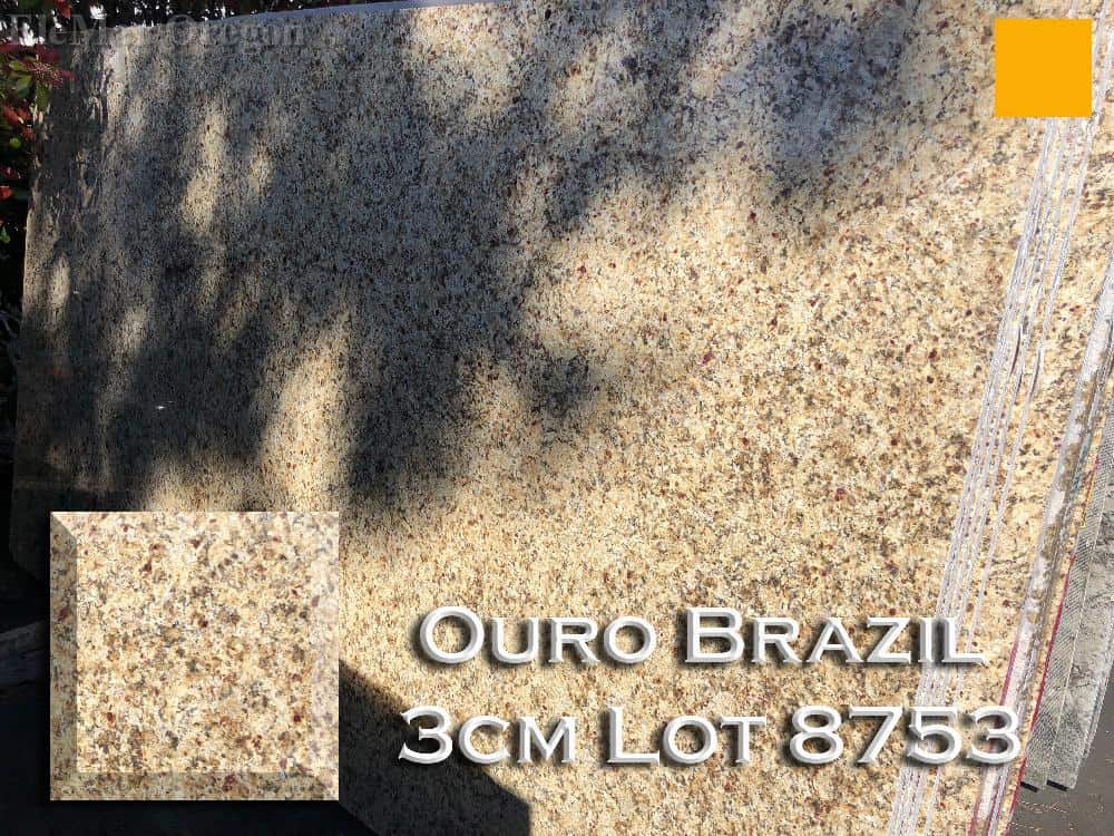 Ouro Brazil Granite lot 8753